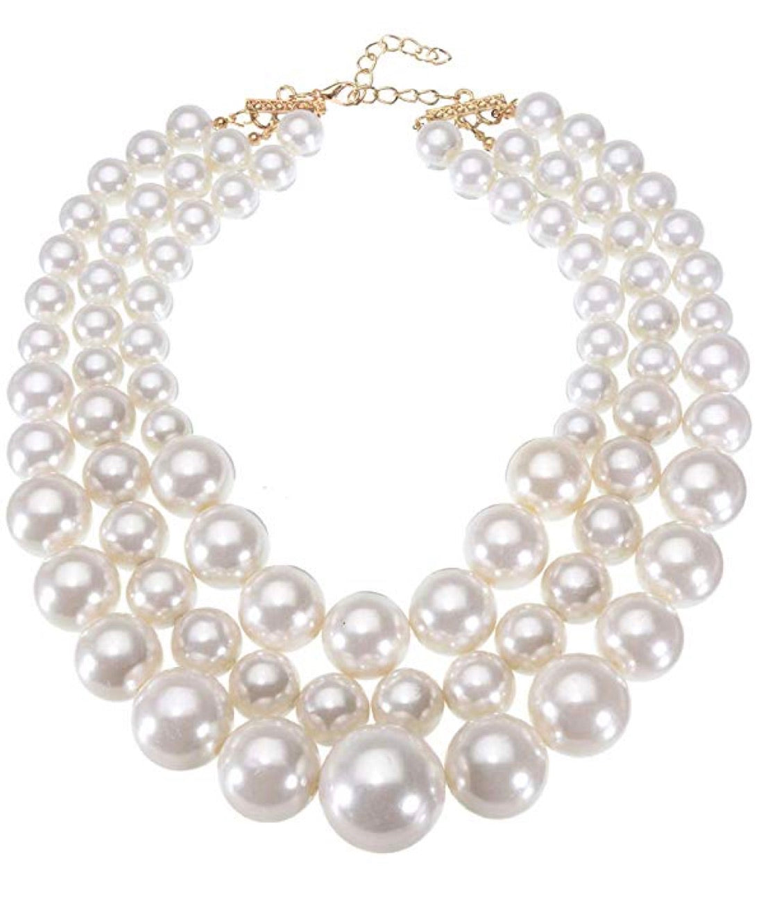 18k Gold Multi Pearl Necklace