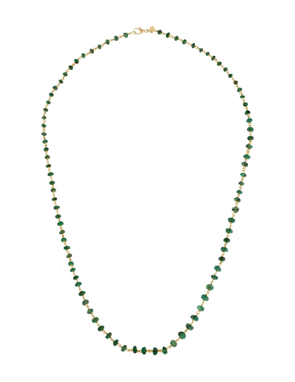 18k Gold Plated Emerald Necklace