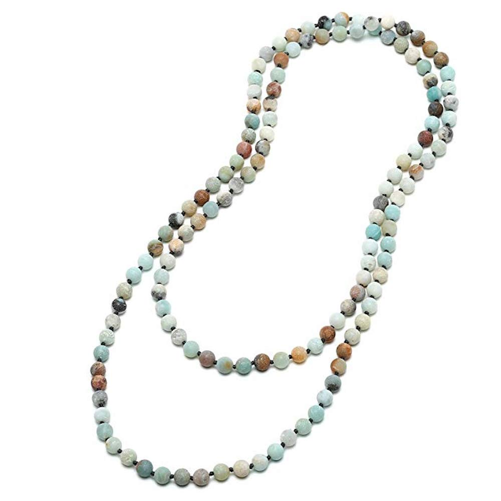 Endless Multi Blue Amazonite Long Necklace