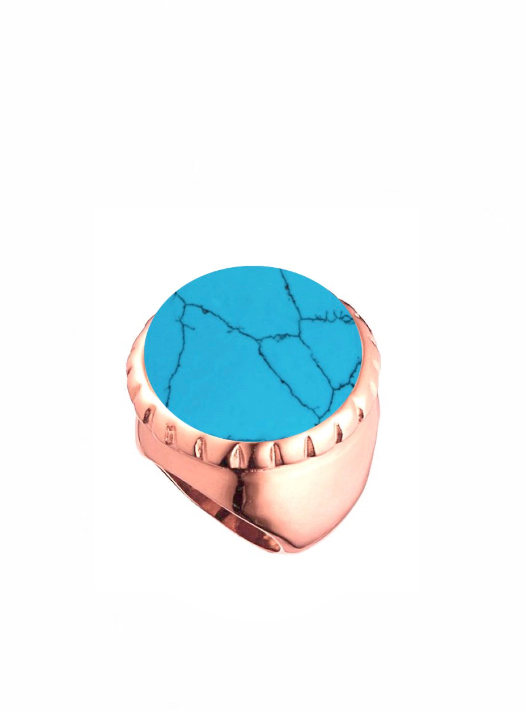 18k rose gold Turquoise Statement Ring