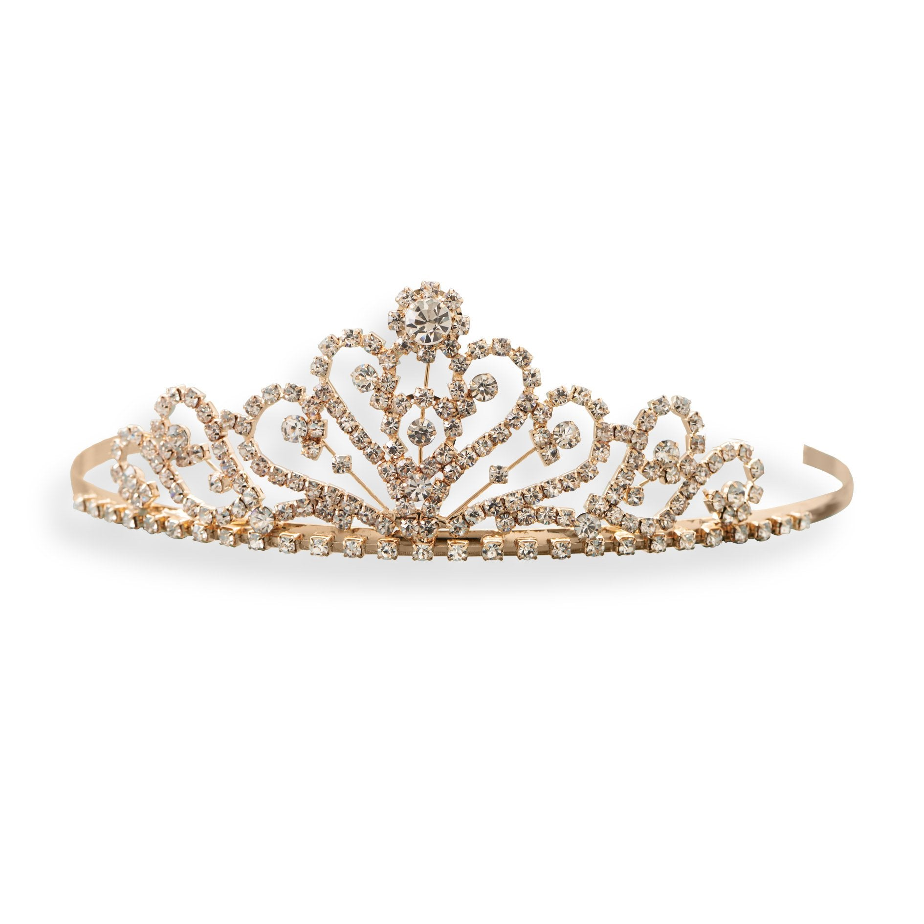 18k Gold Multi Crystal Tiara