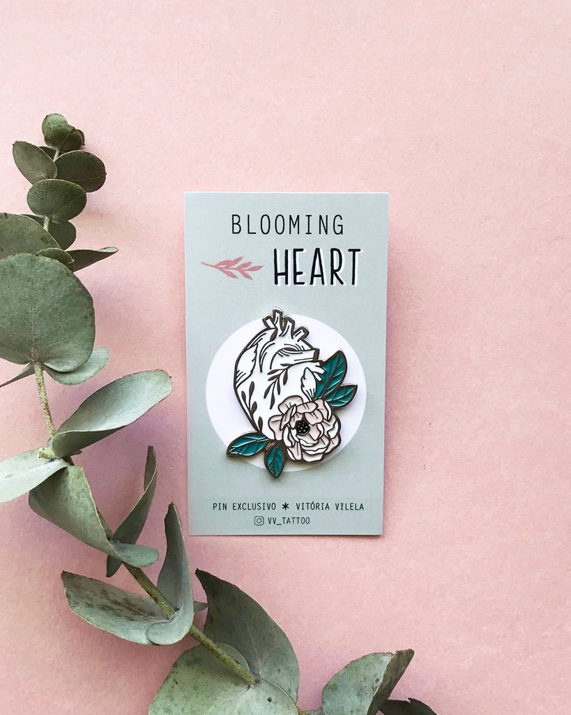 Pin Blooming Heart