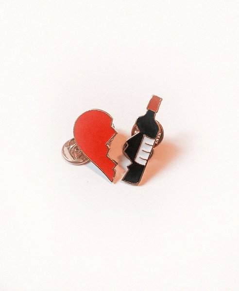 Pin Duplo Wine Lover