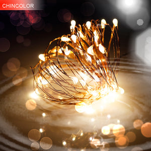 copper or silver led string christmas fairy lights battery operated christmas decor direct