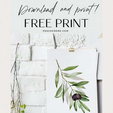 FREE watercolor print!
