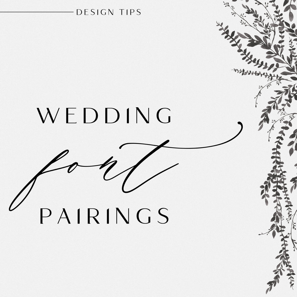 Wedding Font Pairings Vol.1