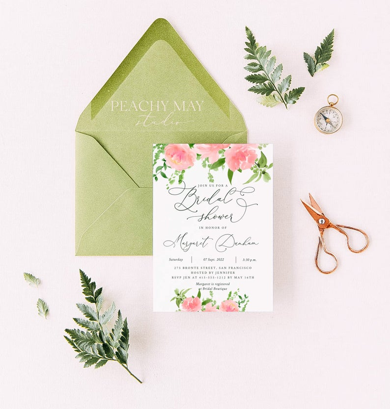 Bridal Shower Invitation Template 004