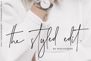 The Styled Edit Script , , - peachcreme.com