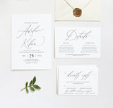 Minimalist Wedding Invitation Template A031