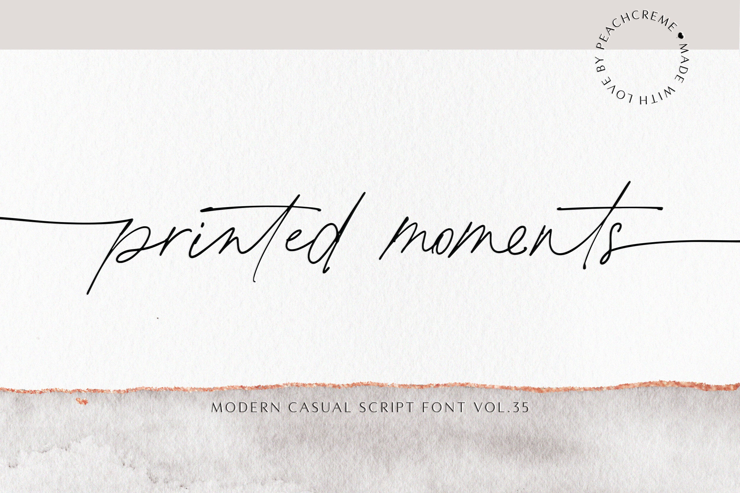 Printed Moments  Font