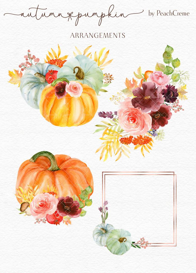 Autumn Pumpkin // Watercolor Set
