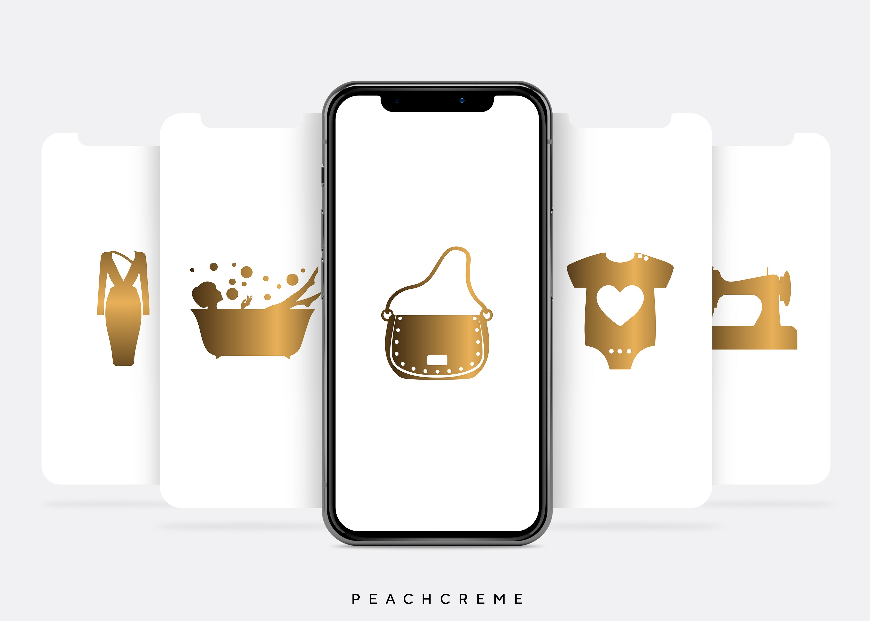 Madeline Instagram Story Covers (Gold on White)