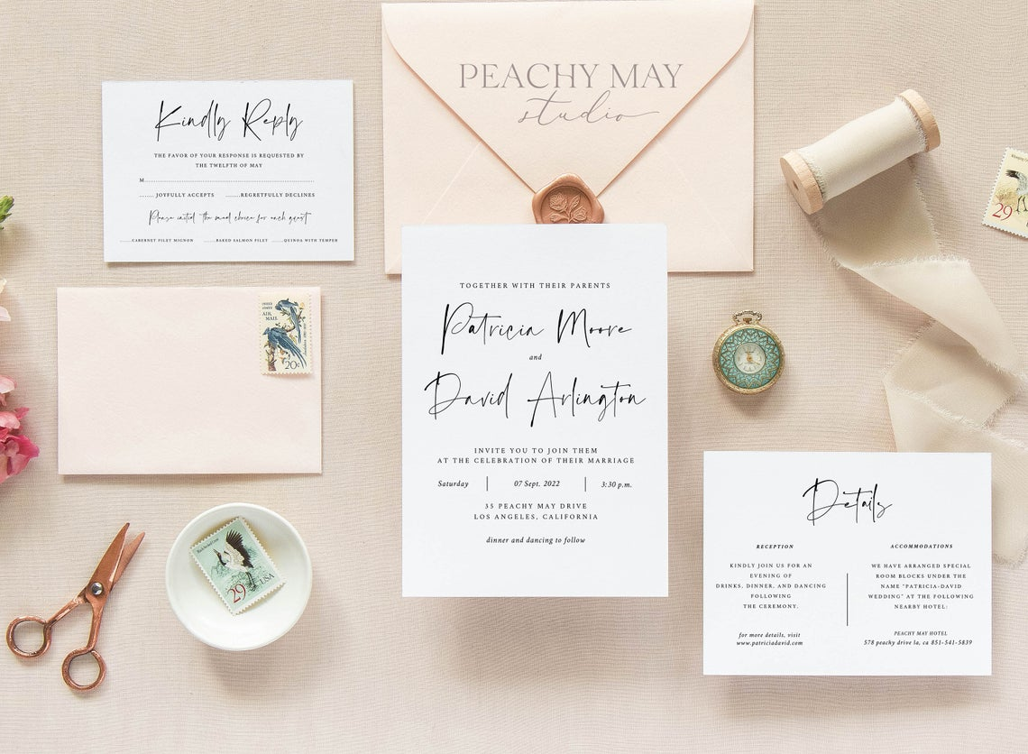 Minimalist Wedding Invitation Template