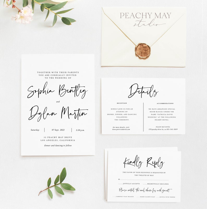 Stylish Wedding Invitation Template