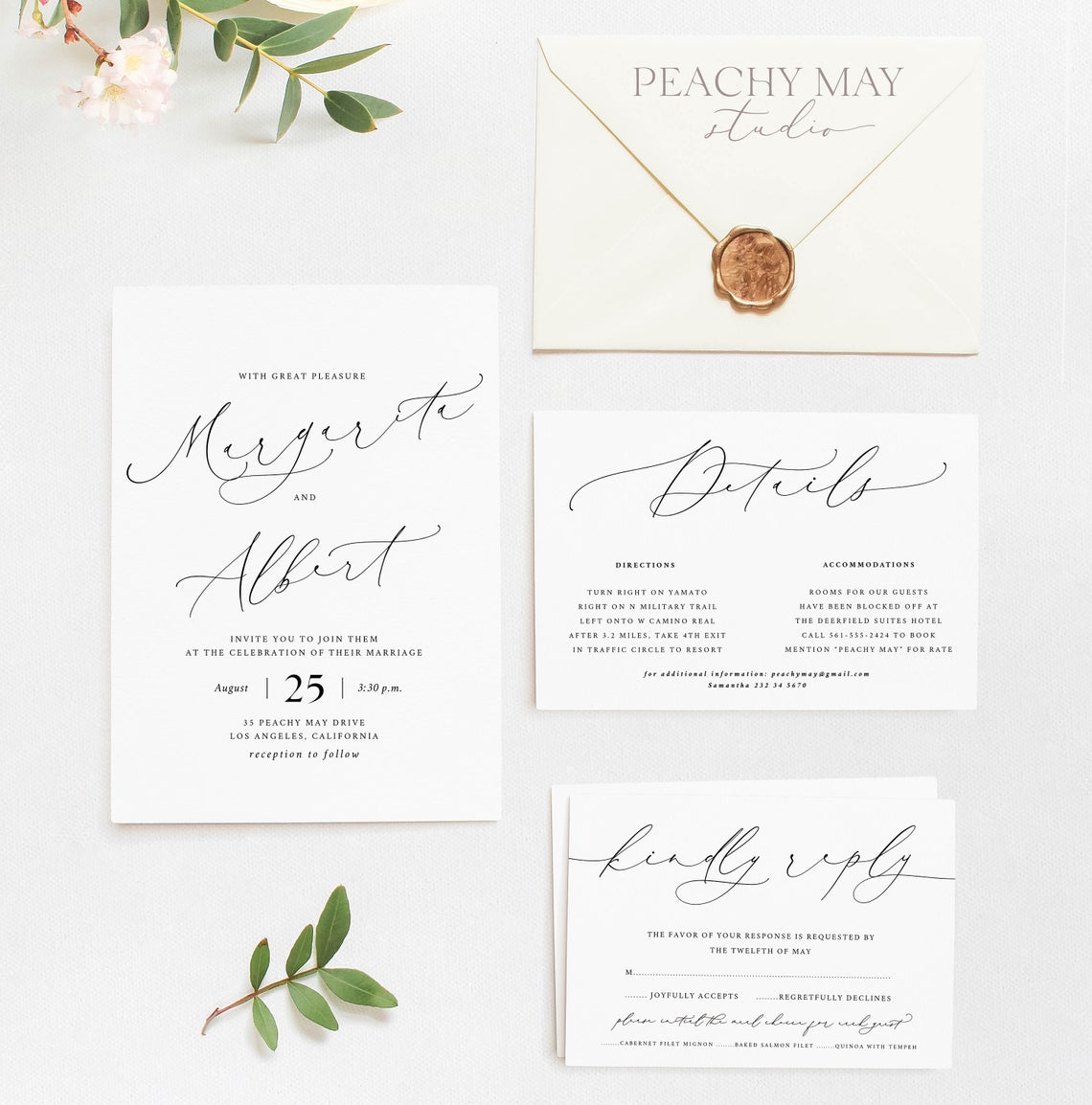 Minimalist Wedding Invitation Template 030