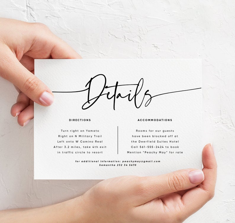 Modern Minimalist Wedding Invitation Template 045