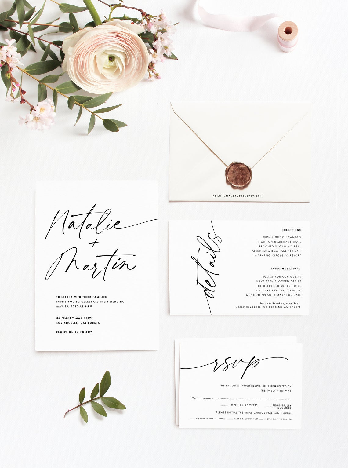 Minimalist Wedding Invitation Template 050