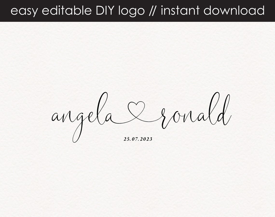 Angela Ronald DIY Logo Design