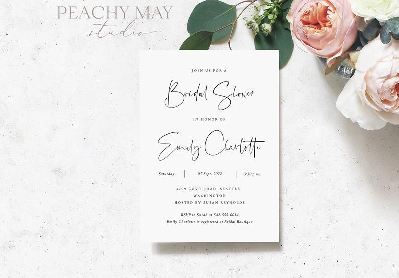 Bridal Shower Invitation Template 008