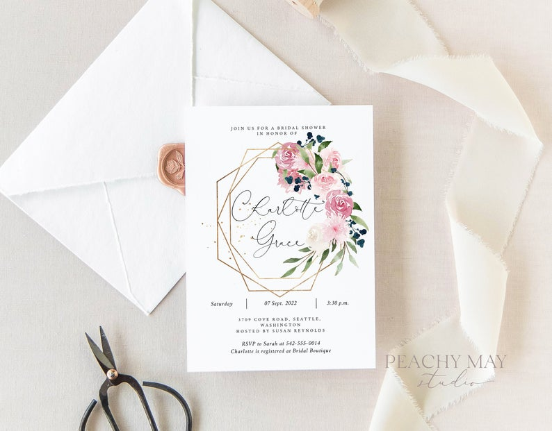 Bridal Shower Invitation Template 012