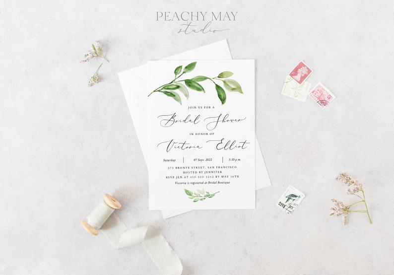 Bridal Shower Instant Download Template 017