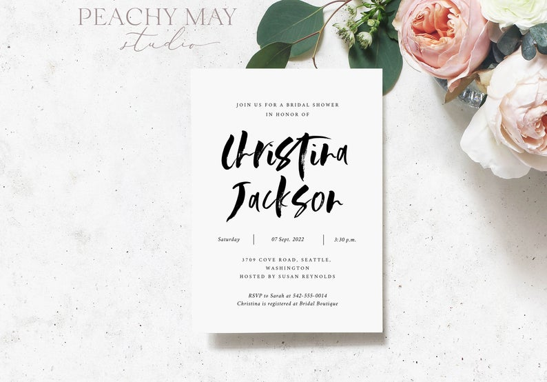 Bridal Shower Invitation Template 023
