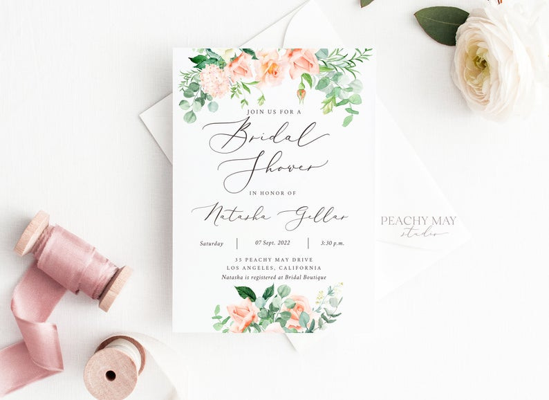 Bridal Shower Invitation Template 025