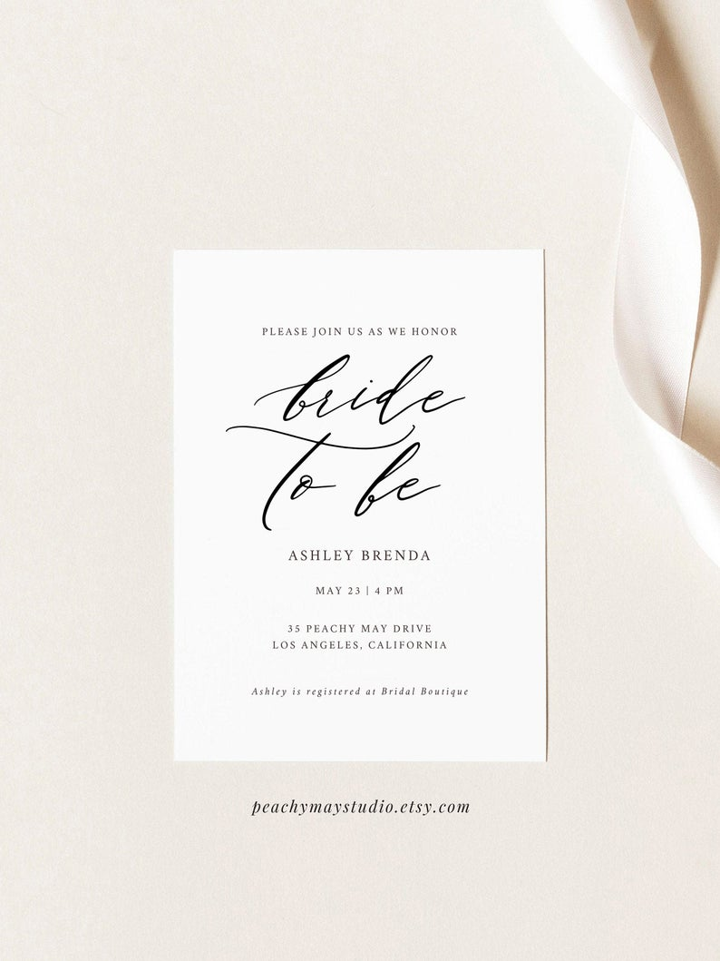 Editable Bridal Shower Invitation template 046