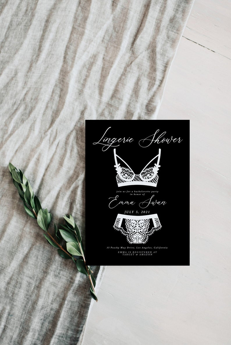 Lingerie Shower Invitation Template 11
