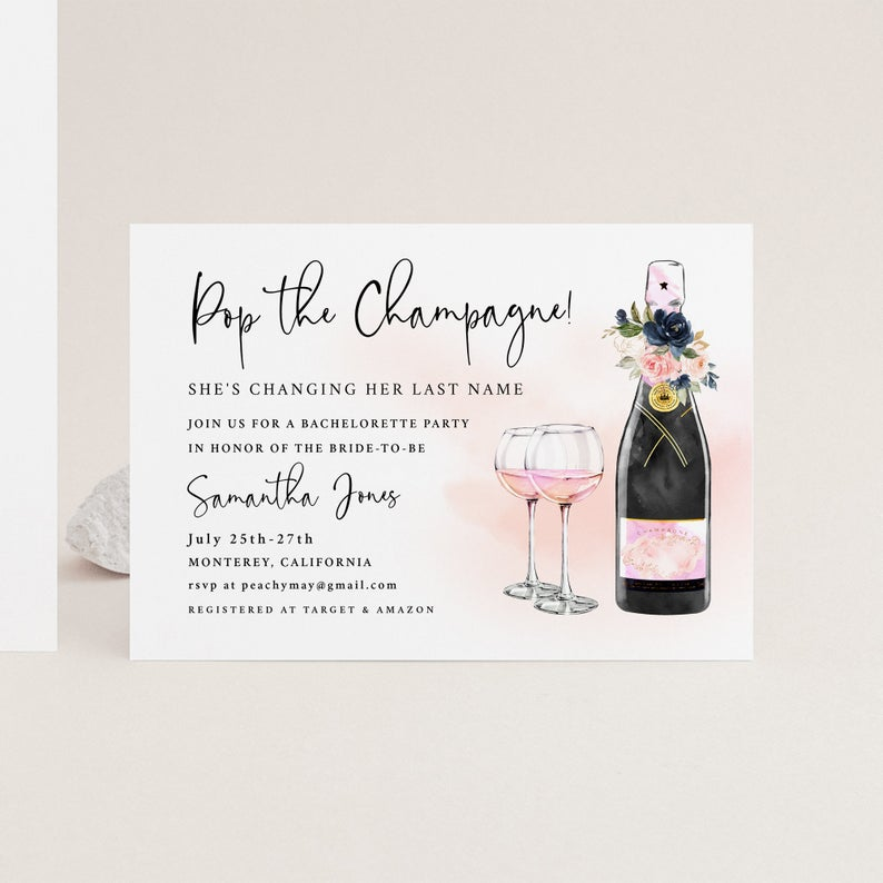 Pop the Champagne Template 14