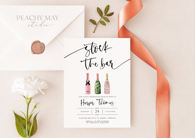 Stock the Bar Invitation Template 2