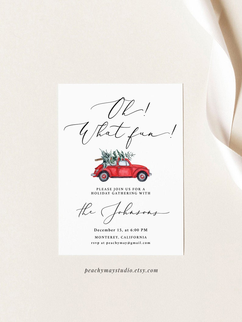 Oh! What Fun Invitation Template 1