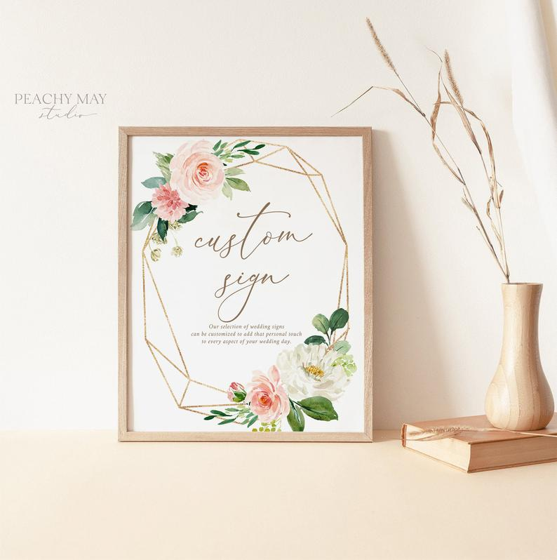 Floral Custom Sign Template 013