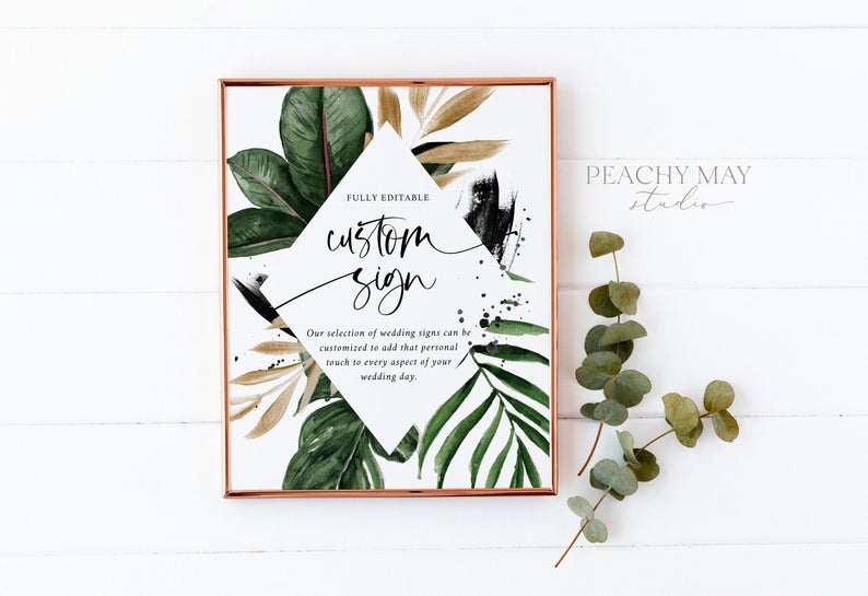 Tropical Custom Sign Template 016