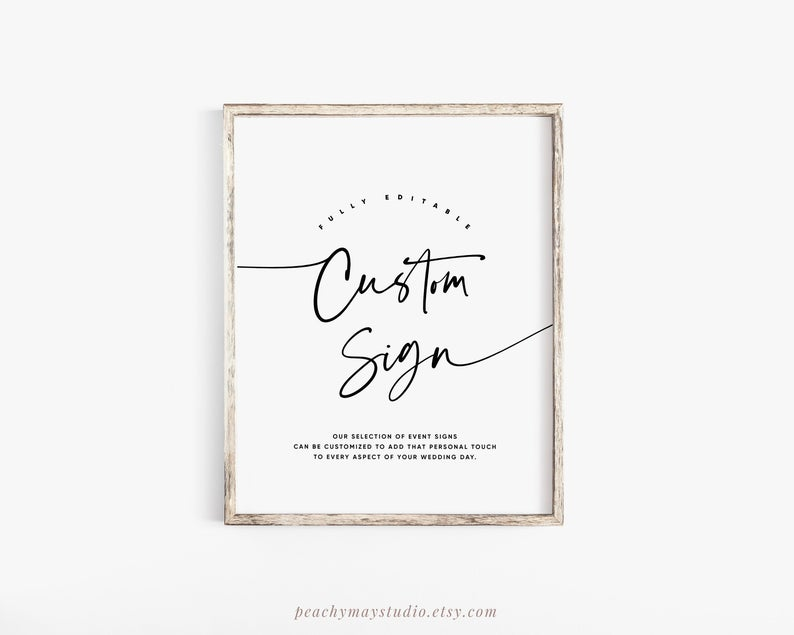 Minimalist Wedding Sign Template 045