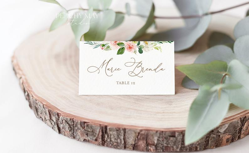 Place Card Template 013