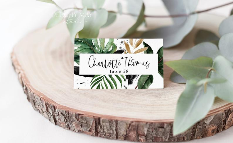 Tropical Place Card Template 016