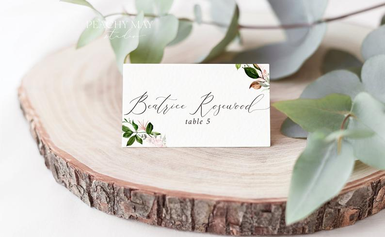 Place Card Template 027