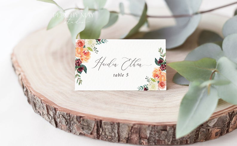 Place Card Template 028