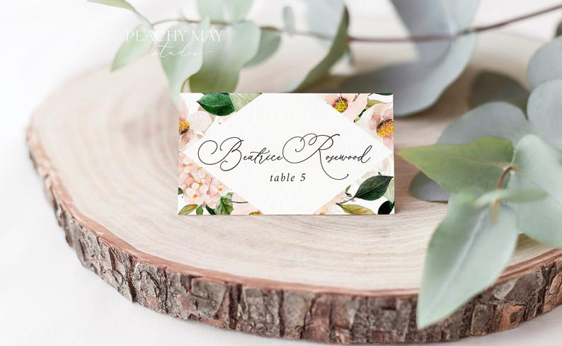 Place Card Template 029