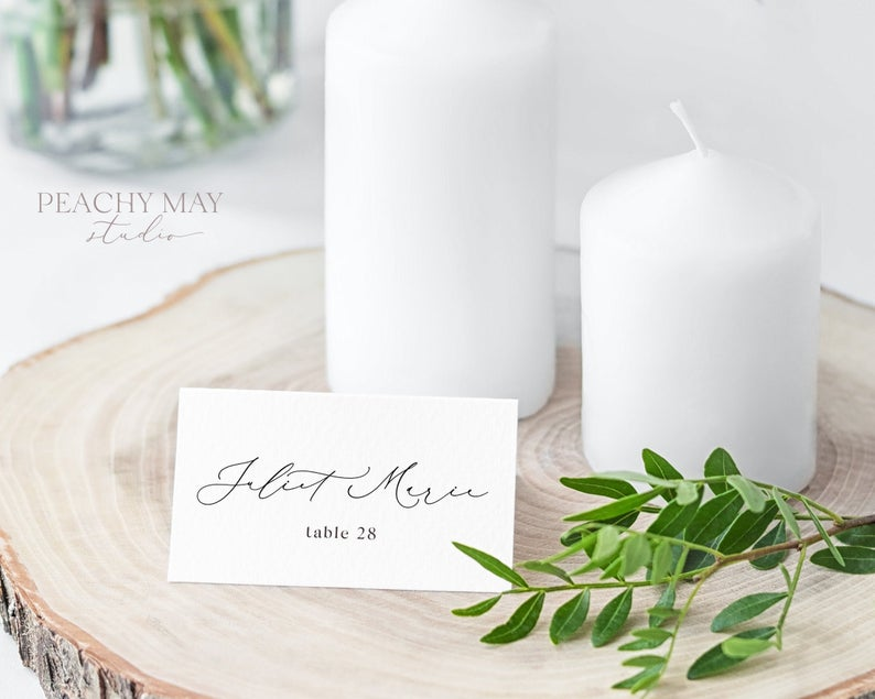 Place Card Template 030
