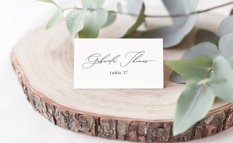 Place Card Template 031