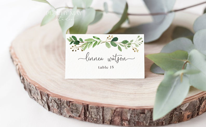 Place Card Template 033