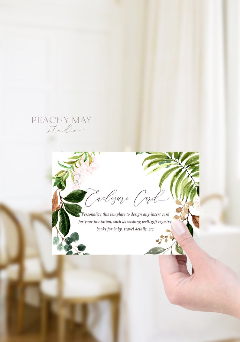 Floral Enclosure Card Template 027