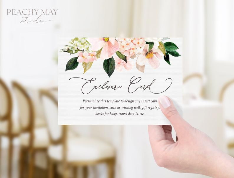 Floral Enclosure Card Template 029