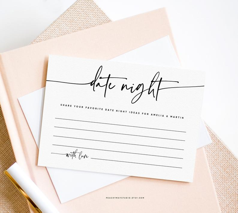 Modern Date Night Idea Card 045
