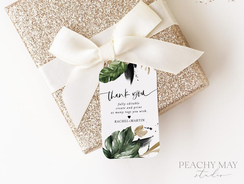 Tropical Thank You Tag Template 016