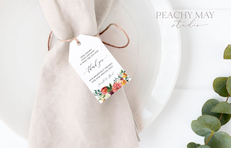 Floral Thank You Tag Template 028