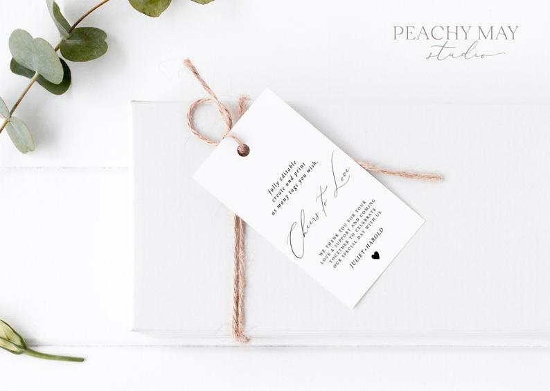 Minimalist Thank You Tag Template 031
