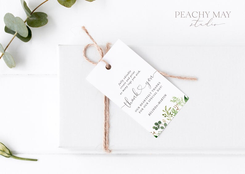 Greenery Thank You Tag Template 033